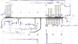 Routenführung des Robotik-Staplers