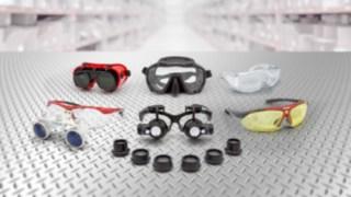 Verschiedene Brillen, die für die Vielfalt der Kommissionierer von Linde Material Handling stehen